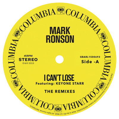 アルバム/I Can't Lose (Remixes) - EP feat.Keyone Starr/Mark Ronson