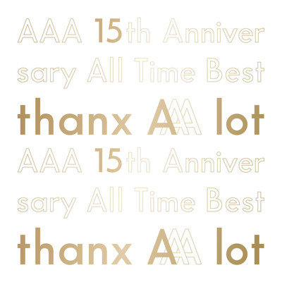アルバム/AAA 15th Anniversary All Time Best -thanx AAA lot-/AAA