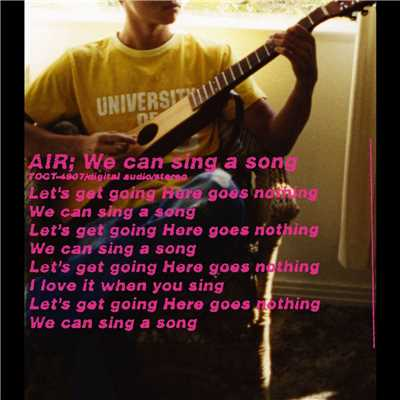 アルバム/We can sing a song/Air