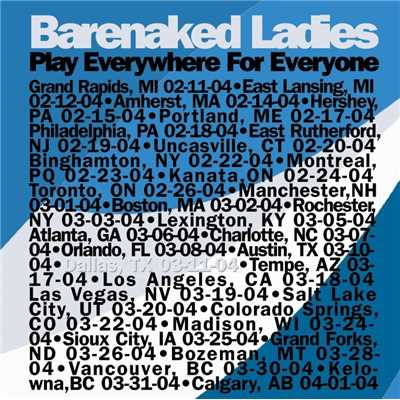 Who Needs Sleep? (Live 3/11/04 Dallas)/Barenaked Ladies