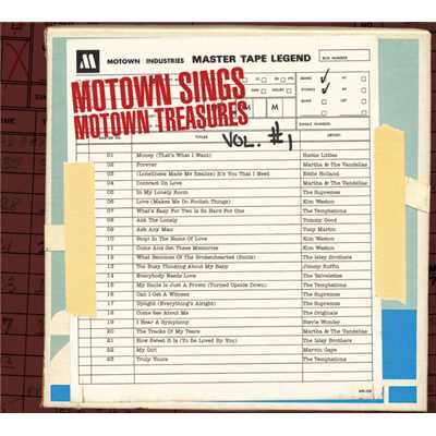 アルバム/Motown Sings Motown Treasures/Various Artists